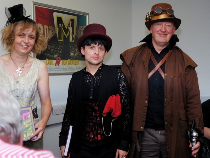 Yev, Jonathan and Anne – the dress-up winners
