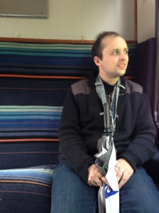 Yevgeny Salisbury, outgoing President, dreaming on the Middle Stanley steam train