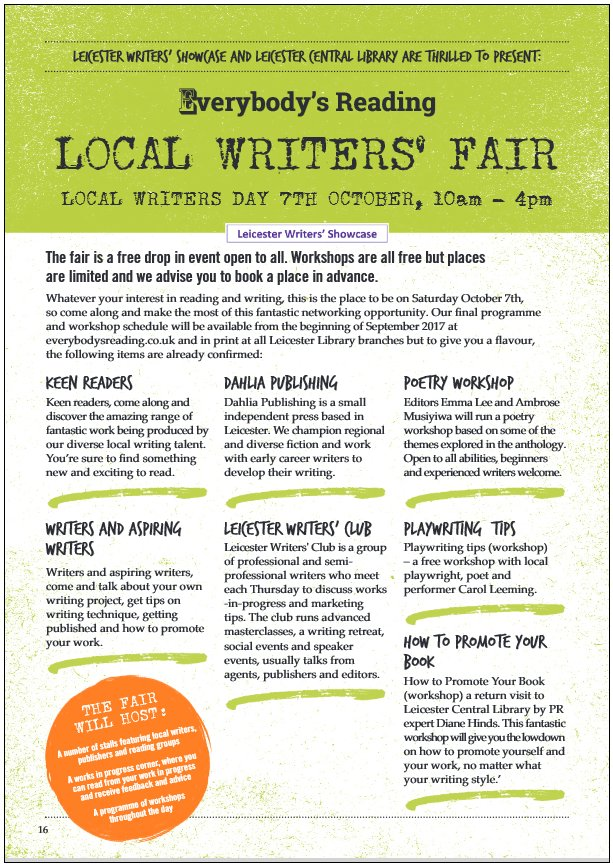 Leicester Local Writers' Fair