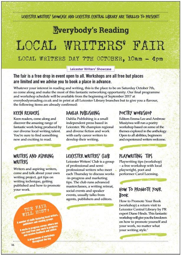 Leicester Local Writers' Fair